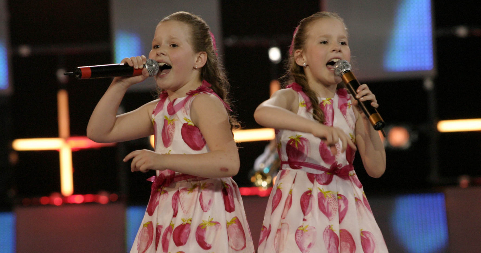The Russian Tolmachevy Twins won the Junior Eurovision Song Contest in 2006