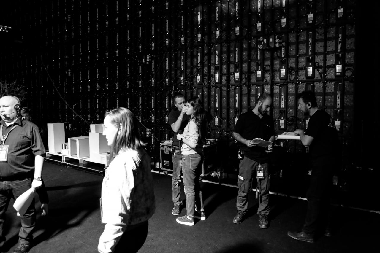 First dress rehearsal backstage