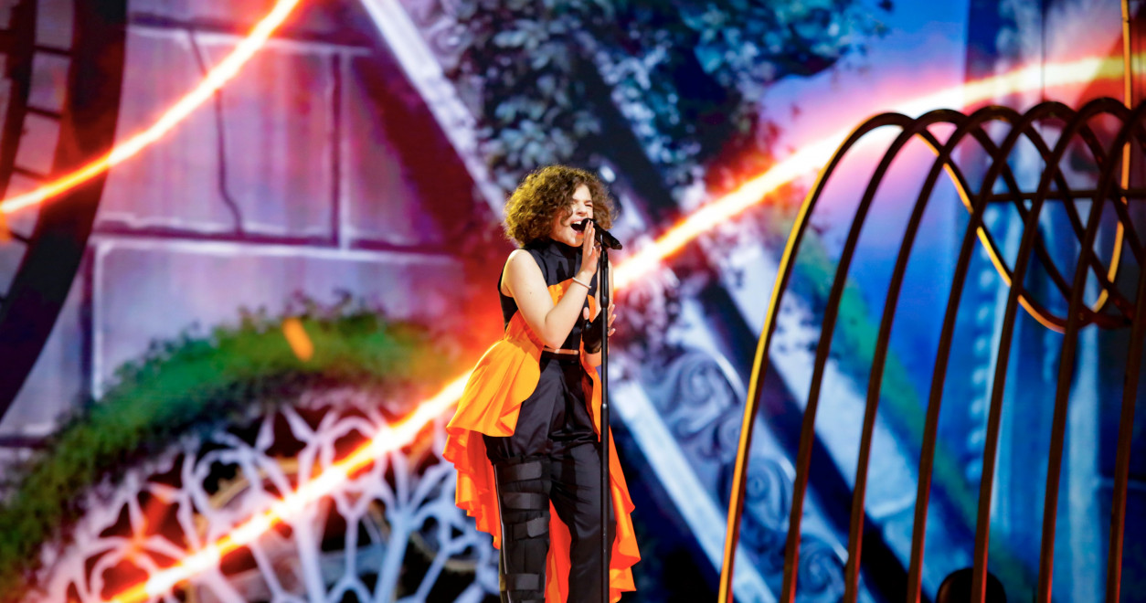 Mila Moskov from North Macedonia on 'Fire' for second rehearsal
