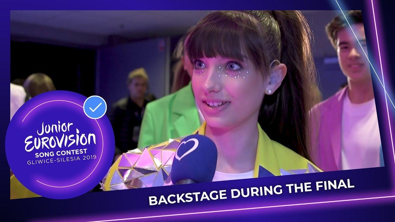 Emotional reactions of the Junior Eurovision Stars right after the show