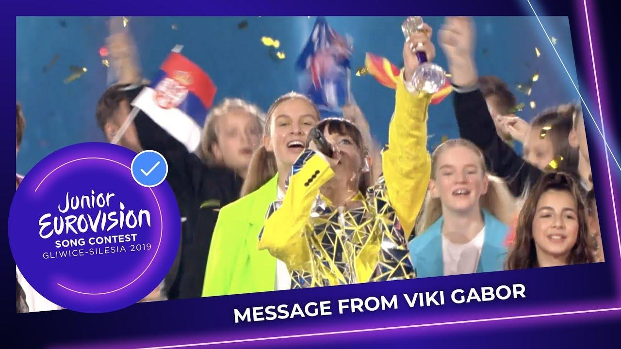 A message from Viki Gabor 🇵🇱 - Winner of the Junior Eurovision Song Contest!